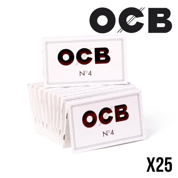 OCB courte double blanche boite//box de 25 carnets de 100 feuilles