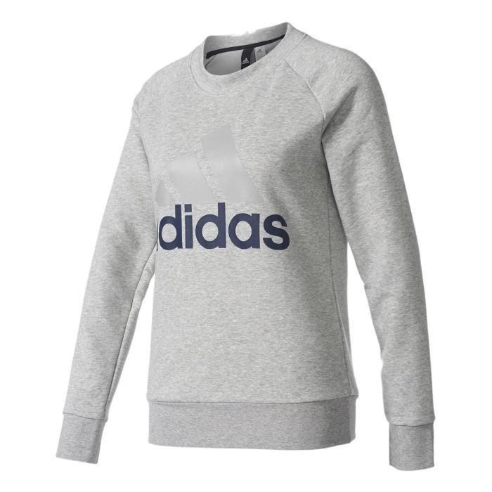sweat shirt adidas gris femmes