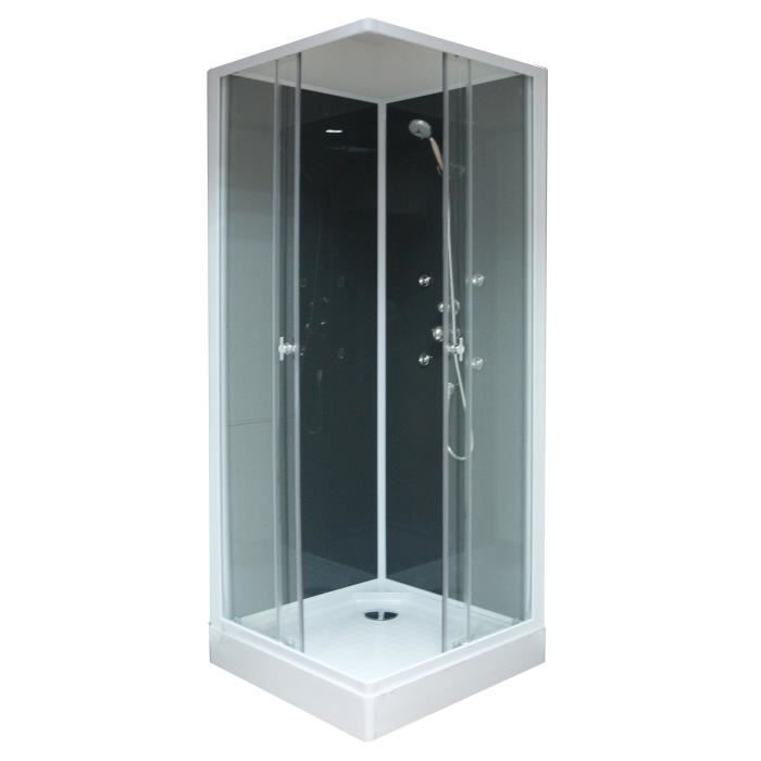 aqua cabine de douche hydromassante thia 80x80 cm achat vente cabine de douche cabine de. Black Bedroom Furniture Sets. Home Design Ideas