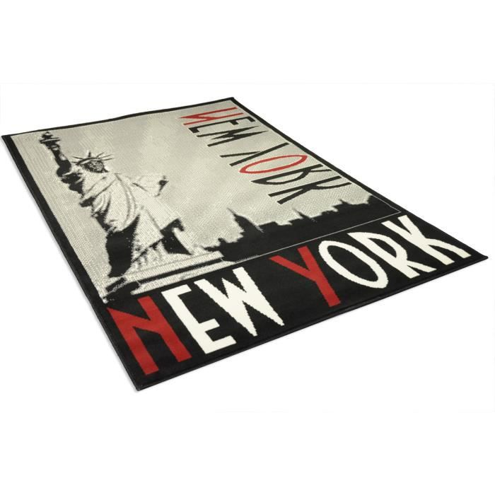 tapis salon new york grey gris universol achat vente tapis cdiscount. Black Bedroom Furniture Sets. Home Design Ideas