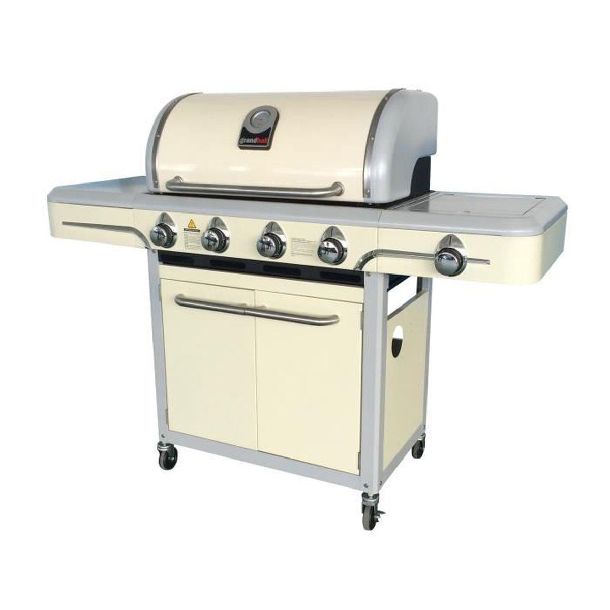 Barbecue Gaz Sans Plancha barbecue gaz 4 brûleurs en fonte plancha et grille santa fé