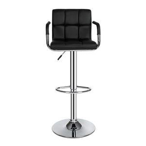 TABOURET DE BAR Lot de 2 Tabourets de bar haut Chaise de bar simil