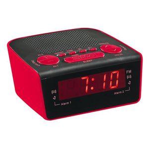 Radio réveil Clip Sonic Technology AR314R Radio réveil PLL Roug