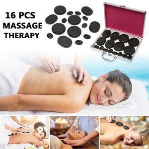 APPAREIL MASSAGE MANUEL 16pcs Massage pierres chaudes basalte thérapie SPA