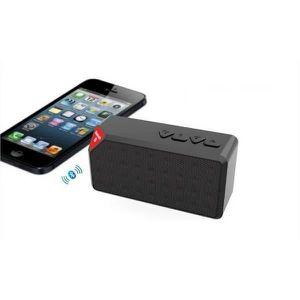 ENCEINTE NOMADE Mini Speaker Noir Bluetooth X3 Carte Memoire Clé U