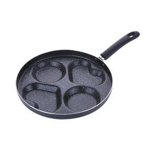 POÊLE - SAUTEUSE Poêle à omelette à quatre trous pour les œufs Jamb