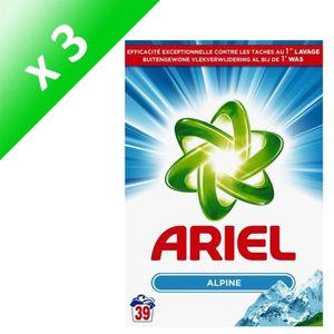 LESSIVE ARIEL Lot de 3 lessives en poudre Alpine - 39 dose