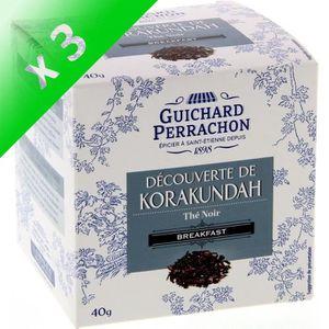 THÉ GUICHARD PERRACHON Thé Noir Brekfast - (Lot de 3x