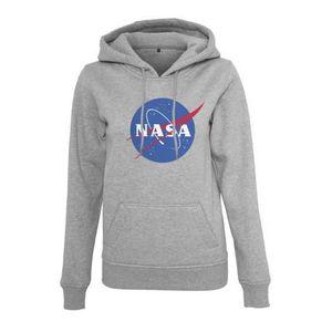 SWEATSHIRT Sweat Femme NASA Hoody Gris Logo