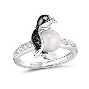 CHEVALIERE Chevaliere T9IVJ Femmes Penguin Bague argent 925 p