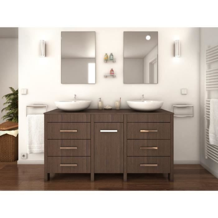 era salle de bain compl te double vasque l 150 cm d cor. Black Bedroom Furniture Sets. Home Design Ideas