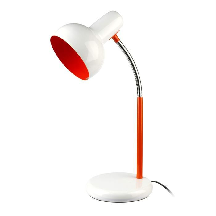 Drop lampe de bureau orange achat vente drop lampe de for Lampe de bureau fille