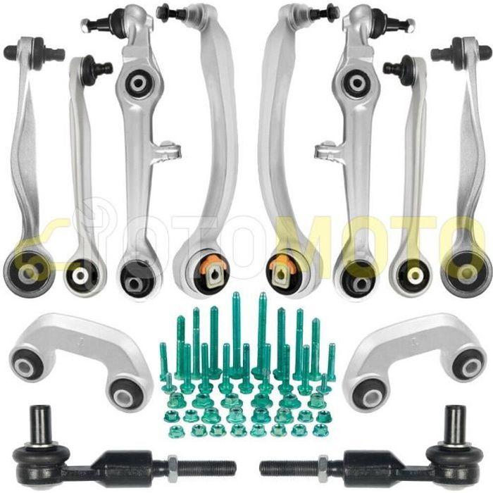 Kit bras de suspension avant compatible AUDI A4 B5 8D A6 C5 VW PASSAT 3B triangle, rotule, biellette 14 pièces