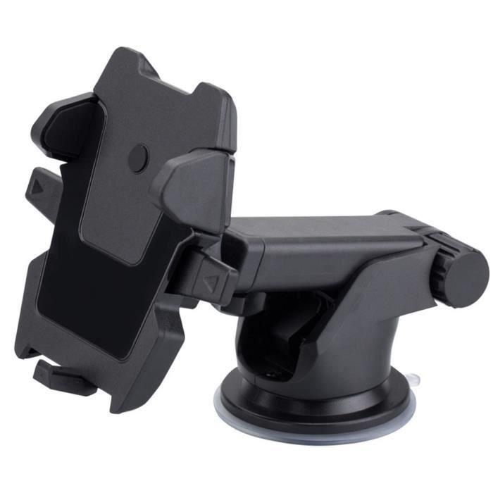 CHA Support de pare-brise rétractable intérieur gain de place support universel rotatif support GPS ventouse support pour téléphone