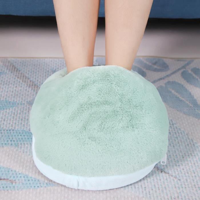 Chauffe pieds électrique chauffant massant chaud pour massage peluche bureau bouillotte coussin hiver chauffage chancelière HB022