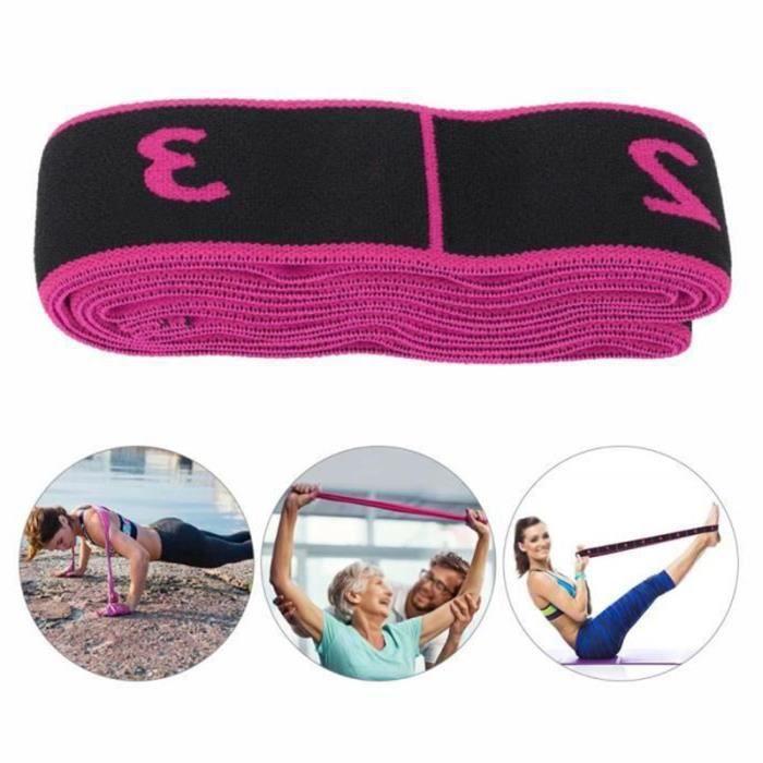 BEMSM-Accessoires d'entraînement pour sangle de yoga avec bande élastique de fitness (rose)