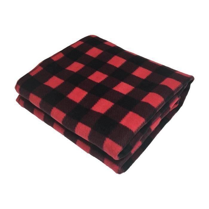 12V Plaid Voiture Hiver Chaud Doux Polaire Couverture Chauffante Électrique Chauffée Noir Rouge