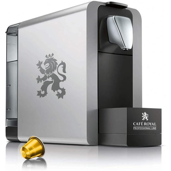 Machine à café Compact Pro 1L grise pour capsules Café Royal Pro (uniquement) avec 288 capsules biodégradables et café BIO offertes