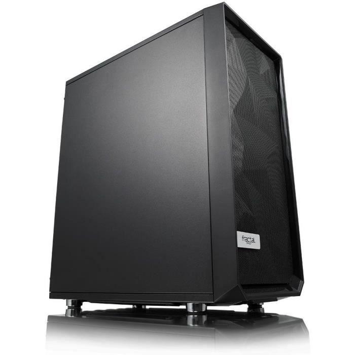 FRACTAL DESIGN BOITIER PC Meshify C - Solid Side Panel - Noir - Format ATX (FD-CA-MESH-C-BKO)