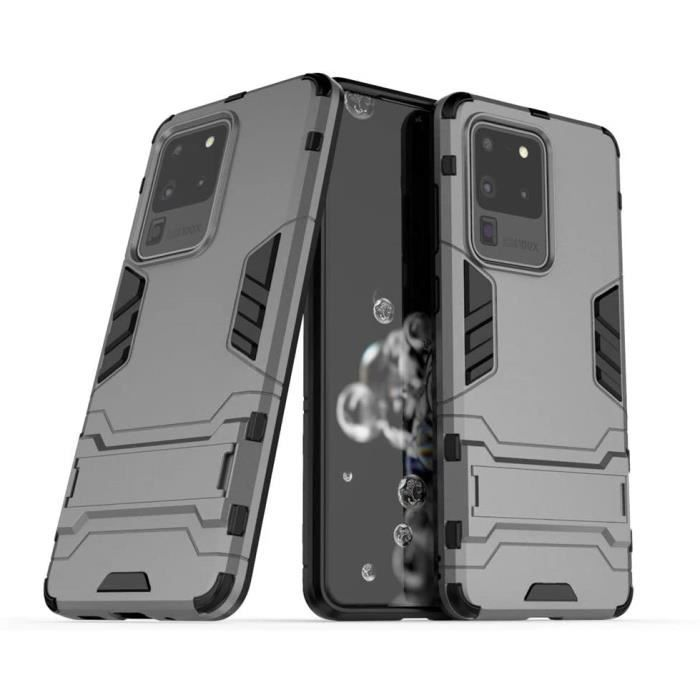 Coque pour Samsung Galaxy S20 Ultra-Galaxy S20 Ultra 5G (6,9 Pouces) 2 en 1 Double Couches Étui Antichocs Protection Rigide Anti