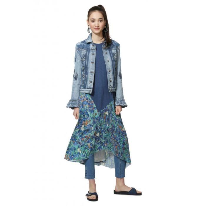 Desigual veste femme 19SWED29 Burns denim dark bleu - Taille - 34