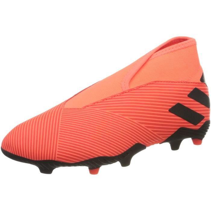 Adidas Nemeziz 19.3 Ll Fg J , Chaussures de Football Enfant, Signal Corail / Core Noir / Solar Red , 36 Eu