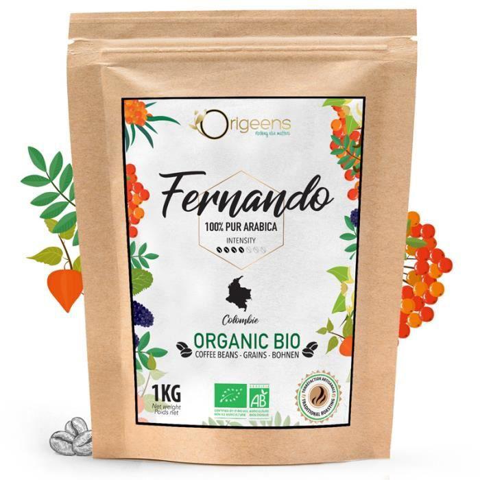 ☘️ CAFE GRAIN BIO 1kg - Café en Grain Arabica - Fernando - Single Origin Colombie - Torréfaction Artisanale…