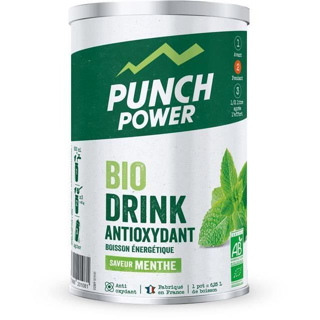 PUNCH POWER BIODRINK MENTHE ANTIOXYDANT - POT 500 G