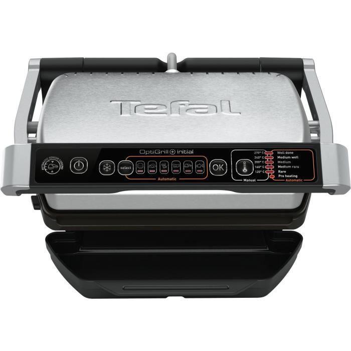 TEFAL GC706D12 OPTIGRILL Grill - 2000W - 5 niveaux de cuisson - 6 programmes - Gris