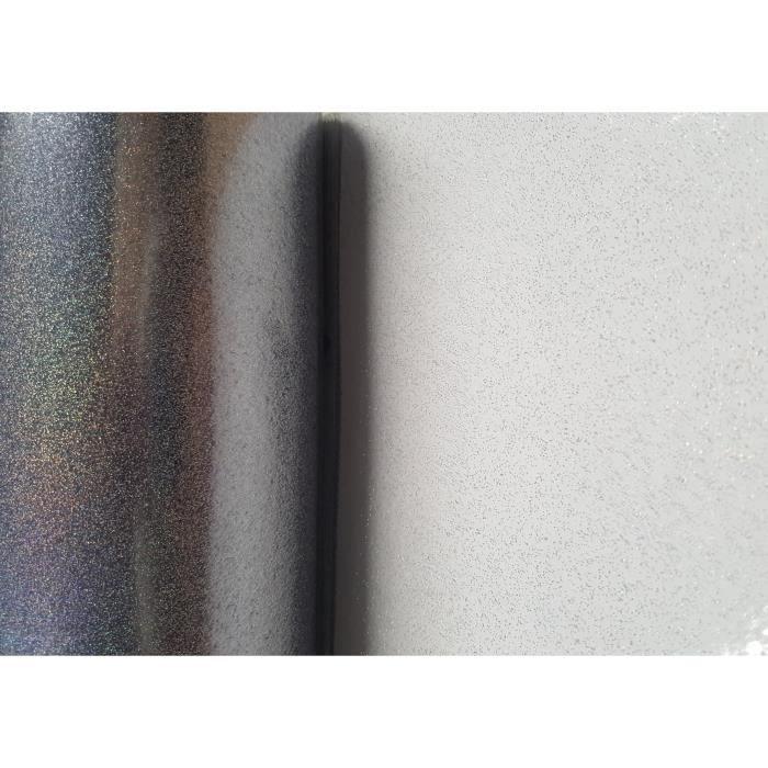 Nappe Transparente Paillette Disco – Ronde 138 cm - Film décoratif PVC Transparente à Paillette Multicolore (sans Plis)