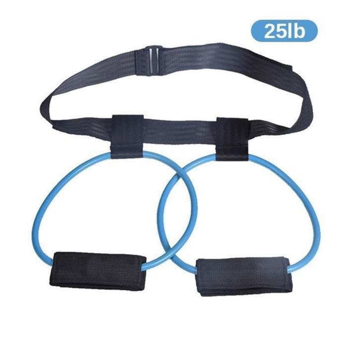 Bandes de Résistance Elastiques Fitness Exercice Yoga Pilâtes Musculation musculaire jambes Fesses bleu 25lb