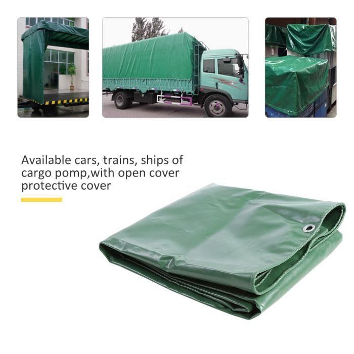 Toile imperméable verte extérieure de tente de bâche imperméable de PVC de toile de 650g - m² pour le camion HB010 HB005 VGEBY -CYA
