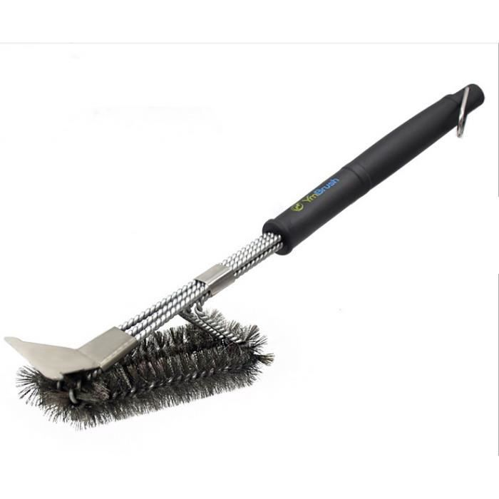 Char-Broil Nettoyage Brosse 30 cm Grill Brosse Barbecue Accessoires laiton soies