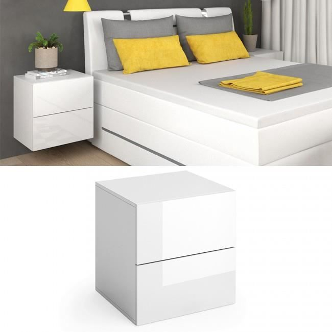 chevet haut blanc achat vente chevet haut blanc pas. Black Bedroom Furniture Sets. Home Design Ideas