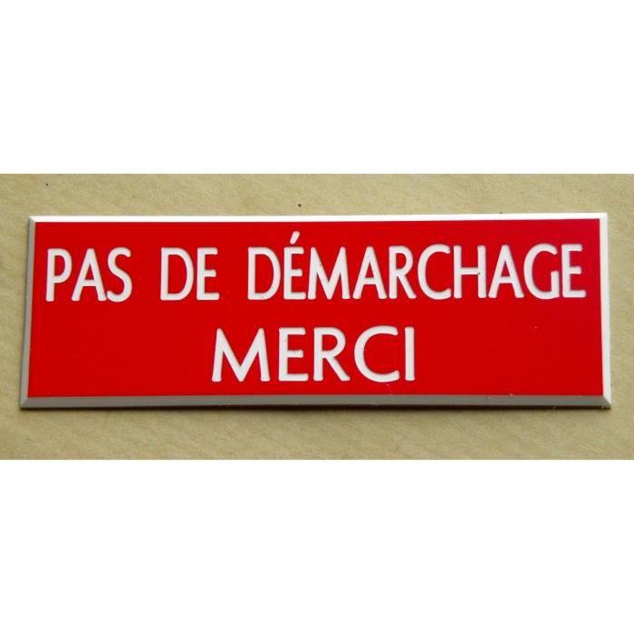 """Panneau adhésif /""""DÉMARCHAGE • COLPORTAGE • QUÊTE NE PAS IMPORTUNER NE PAS SONNER"""