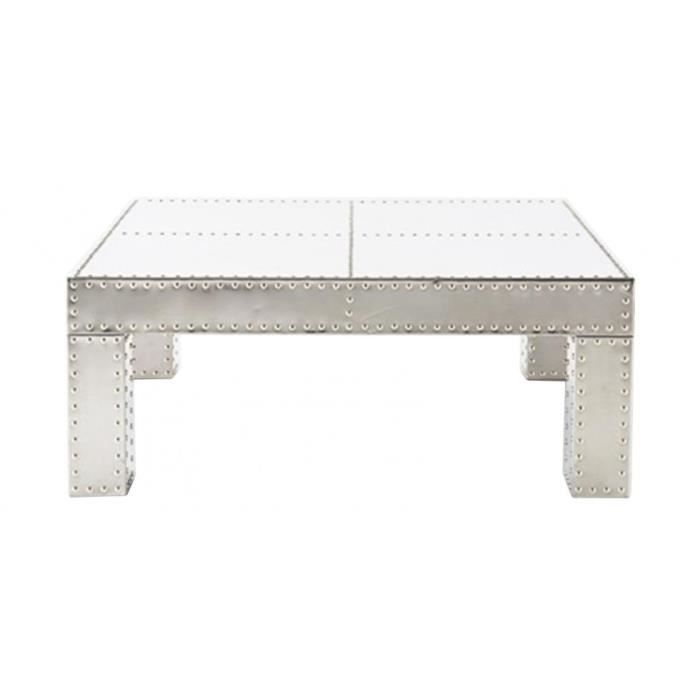 table basse design aviator carr e en aluminium achat