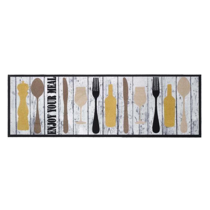 en PVC couleur unie rouge anti-taches int/érieur et ext/érieur Homelife Tapis de cuisine antid/érapant lavable en vinyle 60 x 100 cm fabriqu/é en Italie