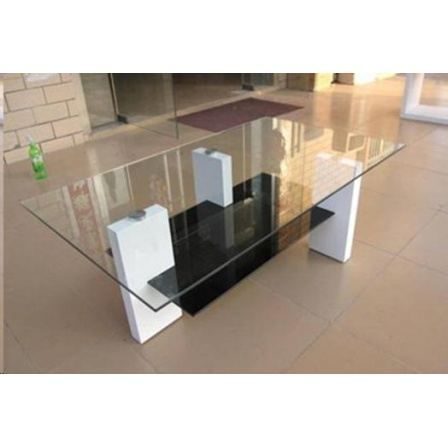 table basse en verre noir et blanche brenta achat vente table basse table basse en verre. Black Bedroom Furniture Sets. Home Design Ideas