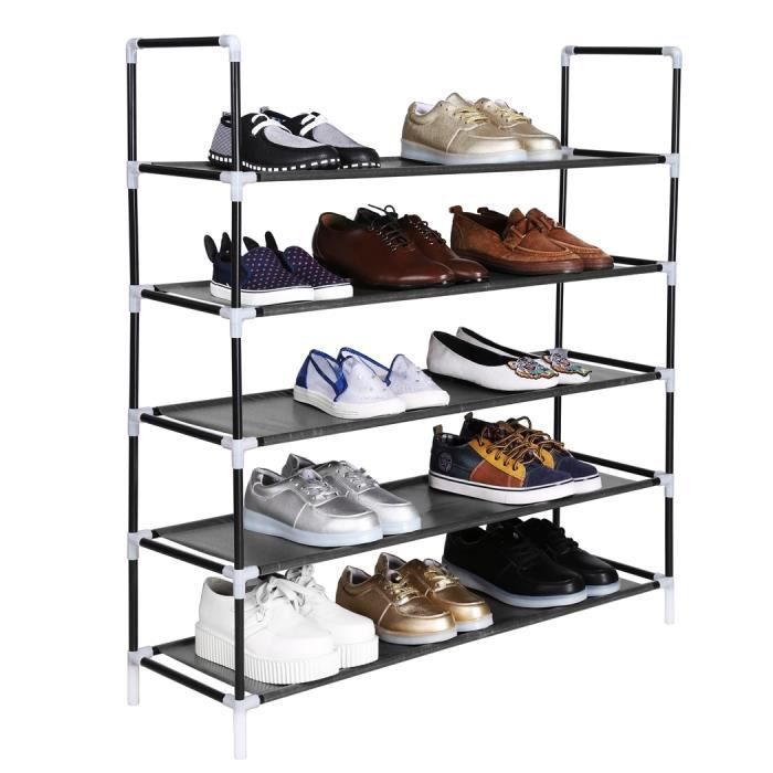 tag re chaussures organisateur de chaussures chaussure support tag re portable achat. Black Bedroom Furniture Sets. Home Design Ideas