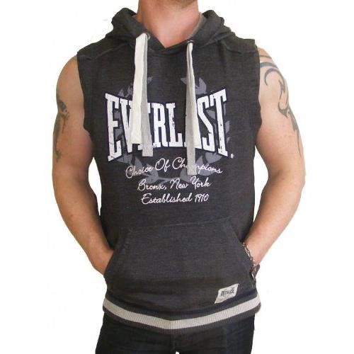 sweat capuche everlast t shirt sans manches gris achat. Black Bedroom Furniture Sets. Home Design Ideas