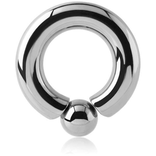 Épaisseur 1,2 mm Diamètre 6-12 mm Piercing Anneau BCR Fermeture Solide Boule
