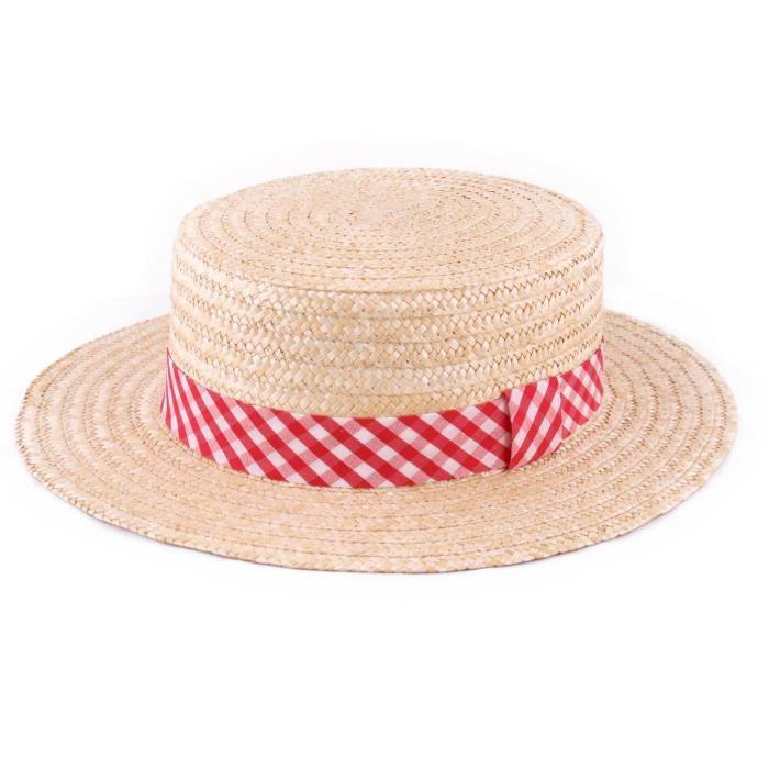 Generique Chapeau de Paille tress/ée Hawa/ï Adulte
