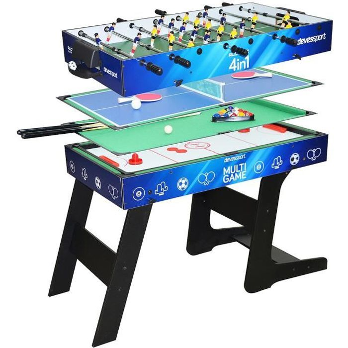 table de jeux de bar multijeux 4 en 1 pliable devessport achat vente table multi jeux. Black Bedroom Furniture Sets. Home Design Ideas