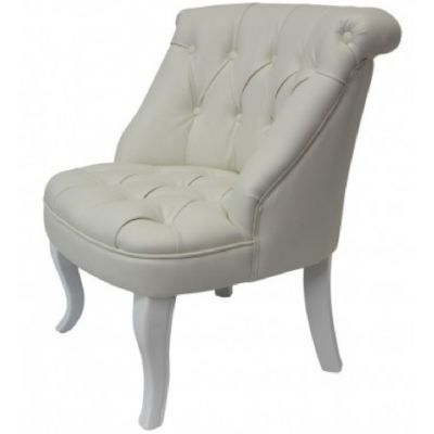 fauteuil capitonn simili cuir blanc achat vente. Black Bedroom Furniture Sets. Home Design Ideas