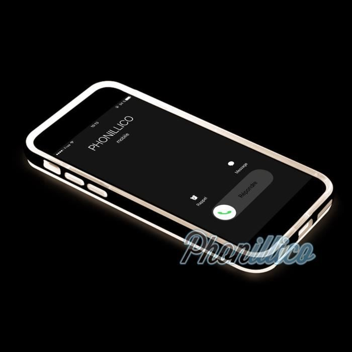 coque tpu flash led or apple iphone 5 5s ultra s