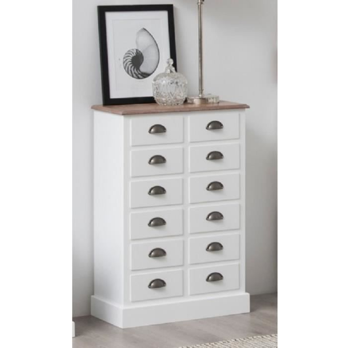 aster commode chambre adulte classique placage bois fr ne et mdf laqu blanc l 60 cm achat. Black Bedroom Furniture Sets. Home Design Ideas