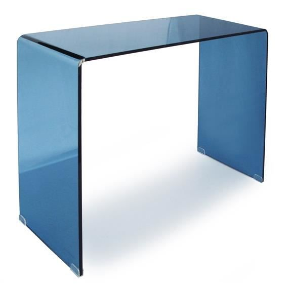 console console bridge bleu 90 cm. Black Bedroom Furniture Sets. Home Design Ideas