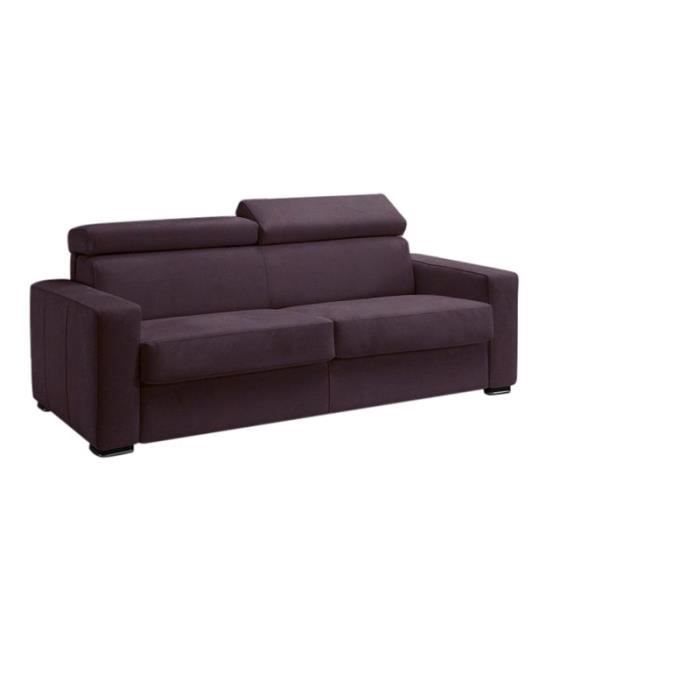 canap convertible omega tissu aubergine 140x190 salon. Black Bedroom Furniture Sets. Home Design Ideas