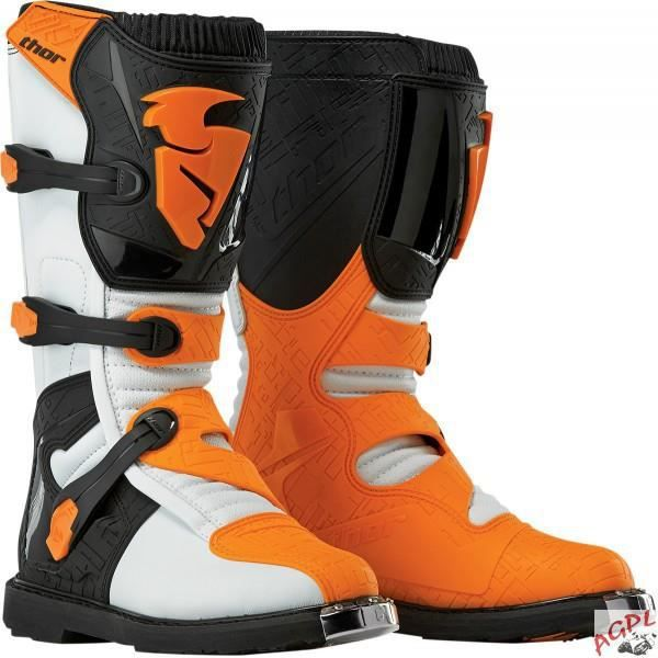 PAIRE DE BOTTES ENFANTS BLITZ BOOT 31/32-THOR- BLANC / ORANGE-3411-0326