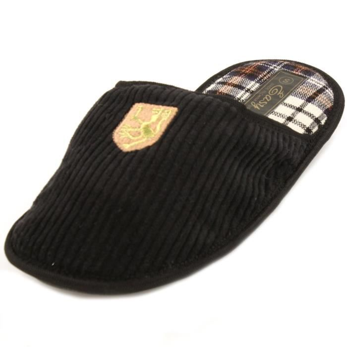 Mens Corduroy House Slippers R9GLK Taille-M